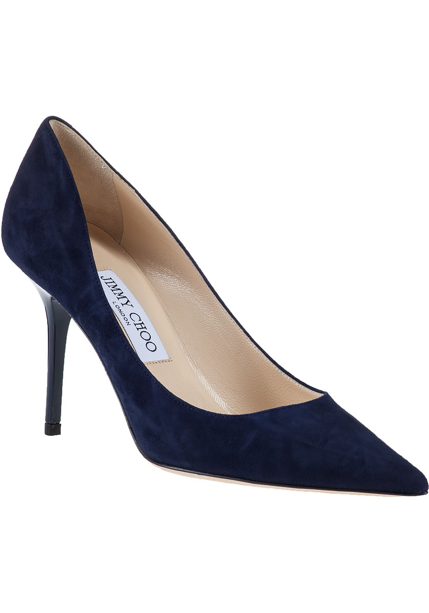 Jimmy Choo Blue Suede Shoes