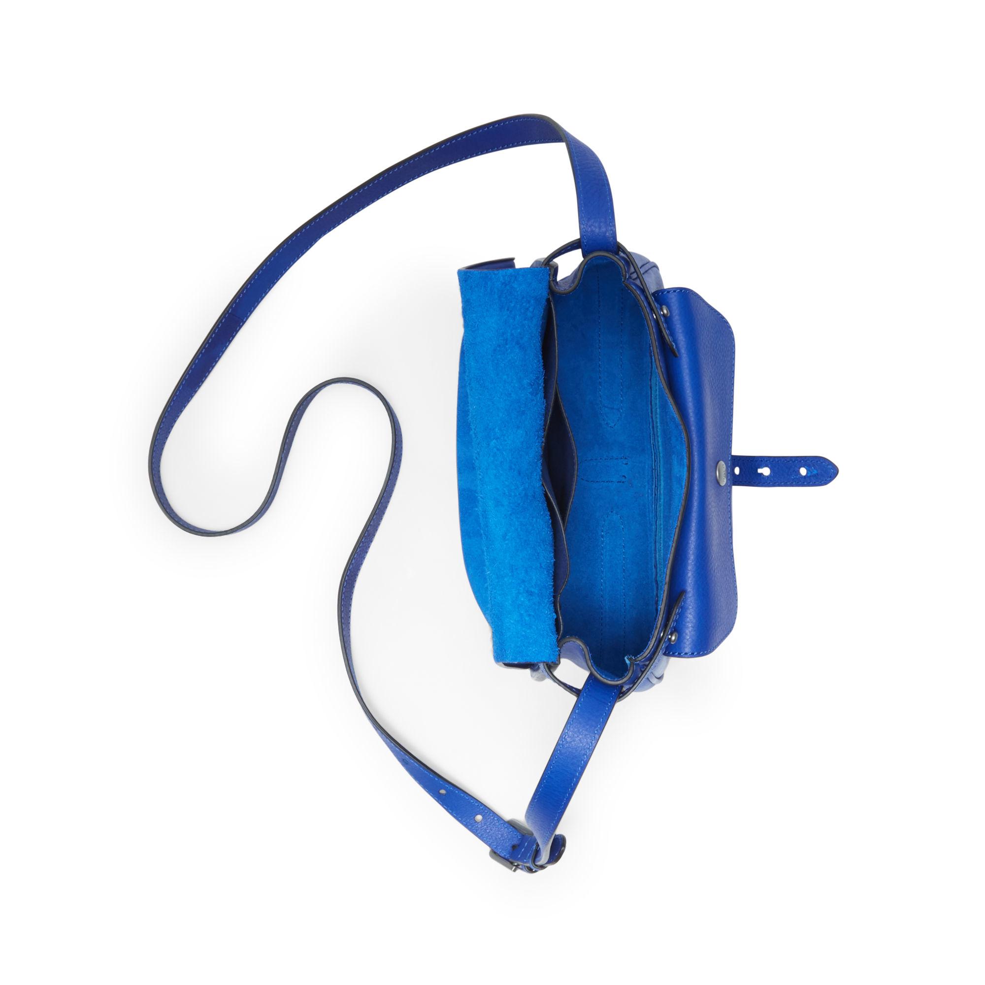 f4d7db0ddb0f Polo Ralph Lauren Medium Vachetta Cross-body Bag in Blue - Lyst