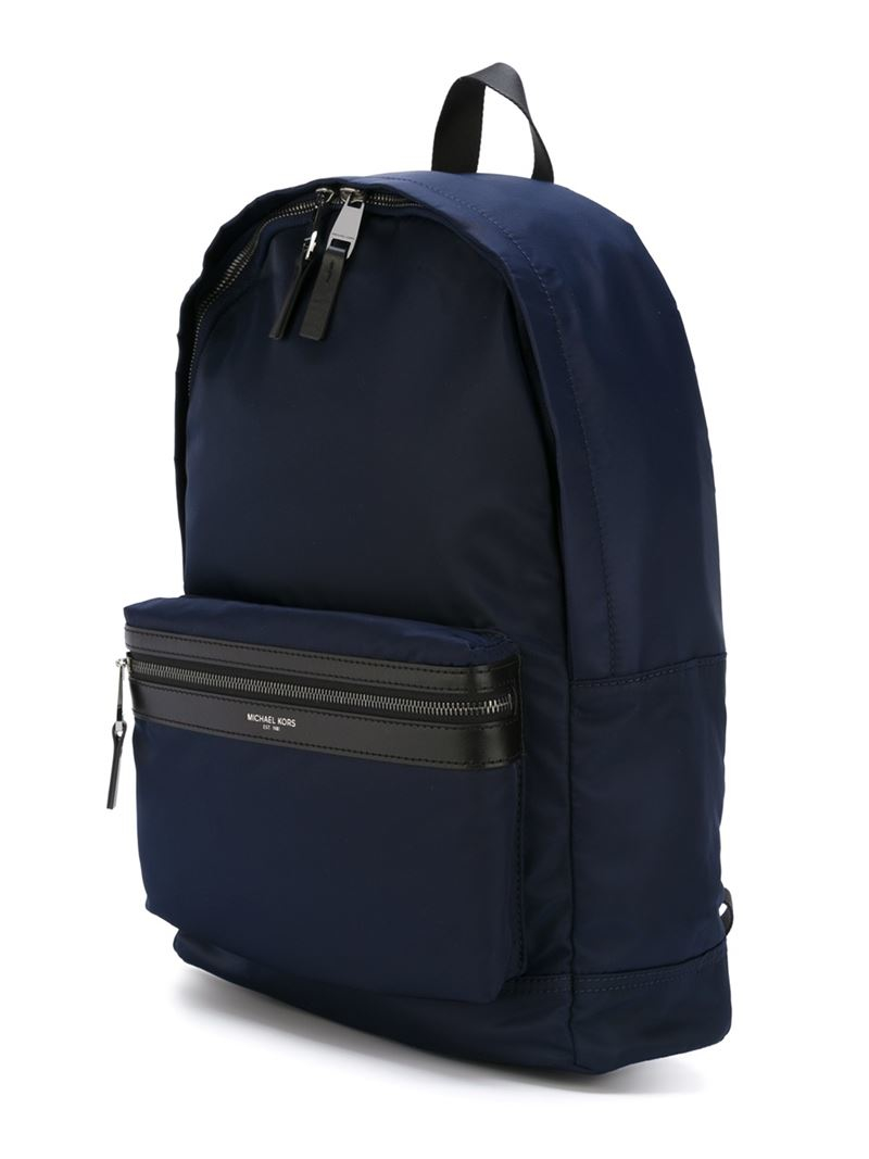 michael kors 39 kent 39 backpack in blue for men lyst. Black Bedroom Furniture Sets. Home Design Ideas