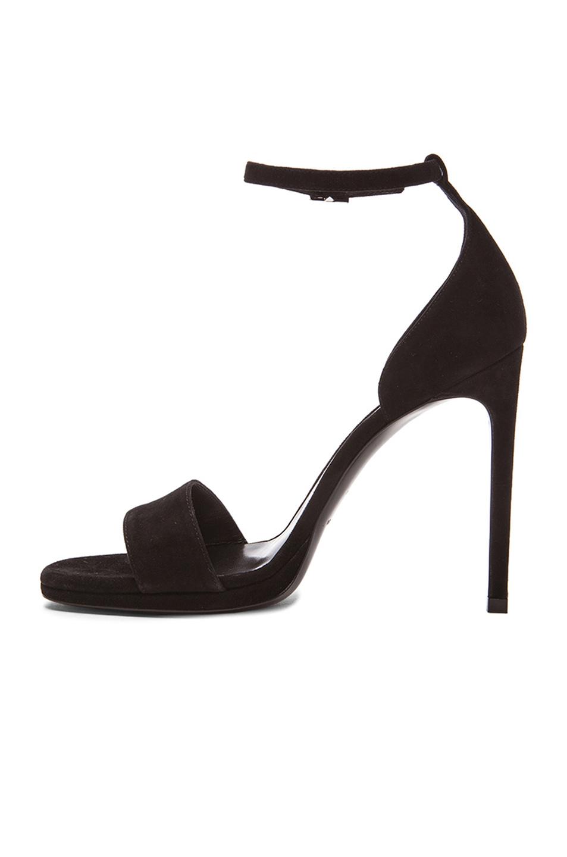 5af3fe8112816 Saint laurent Jane Suede Sandals in Black