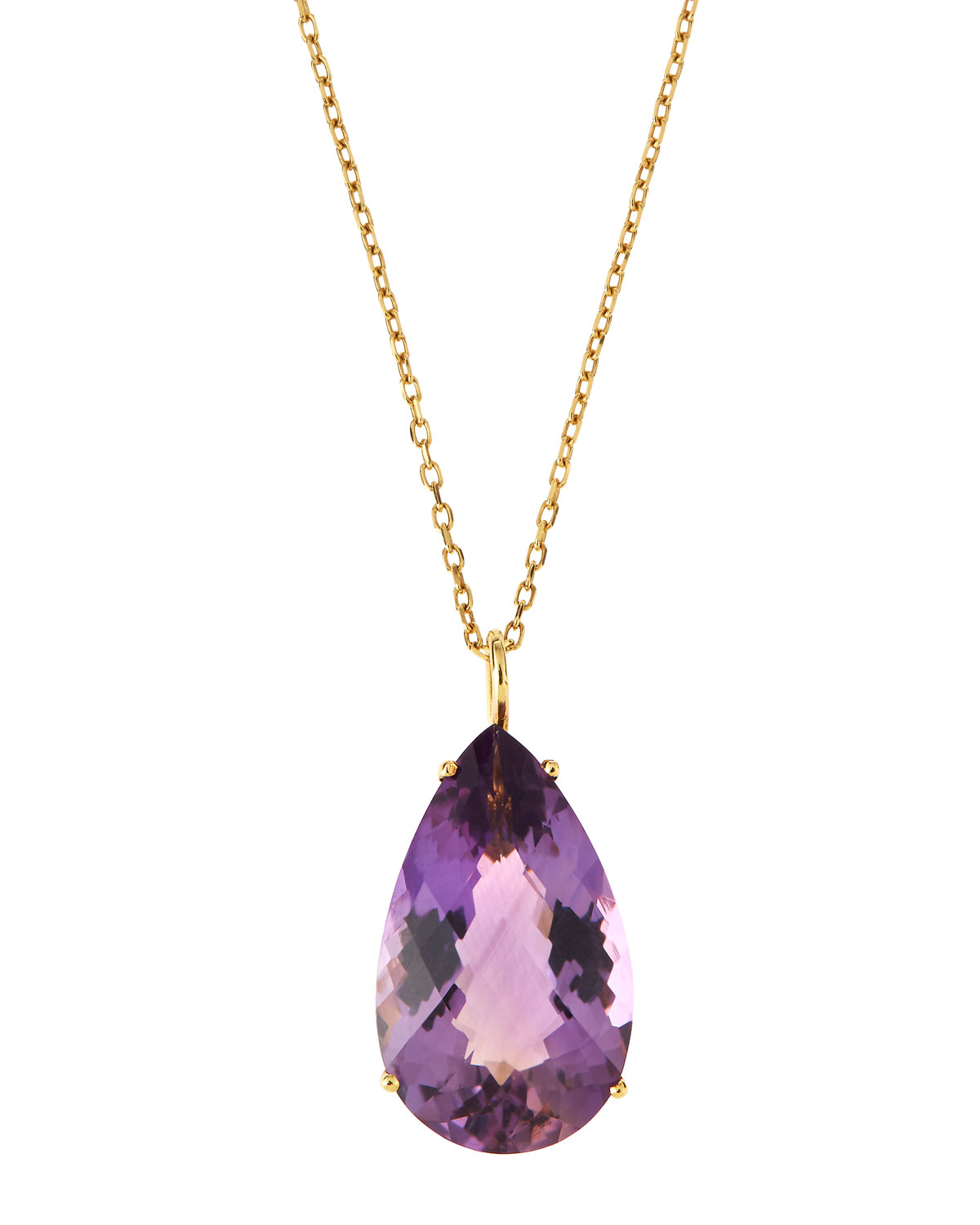 Roberto Coin 18k Amethyst & Diamond Teardrop Pendant Necklace I1PbMsjMpF