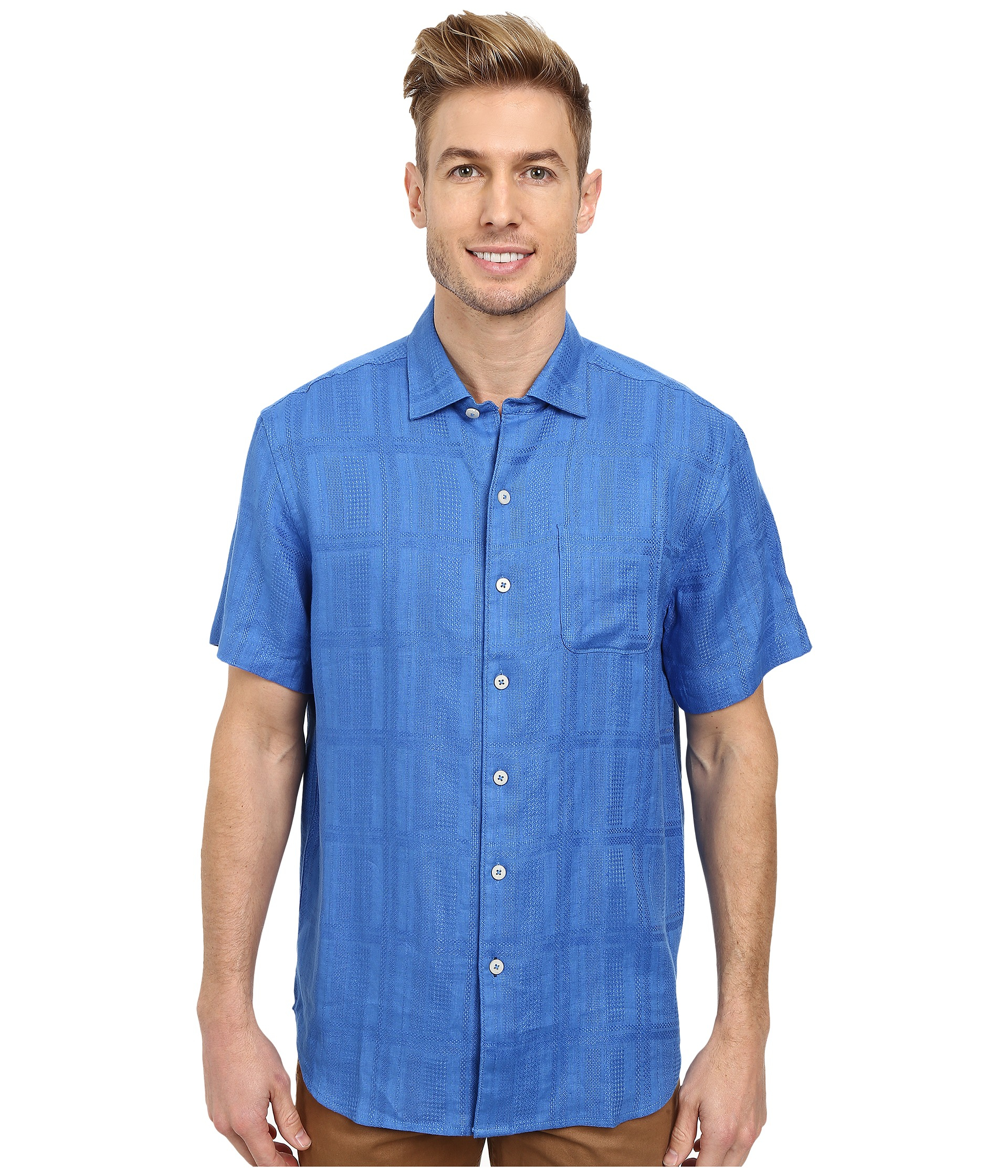 Tommy Bahama San Marino Camp Shirt In Blue For Men Palace