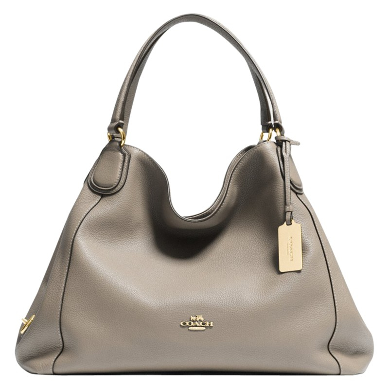 3516cf76bf ... cheap coach edie leather shoulder bag in gray lyst 0e840 18a02 ...
