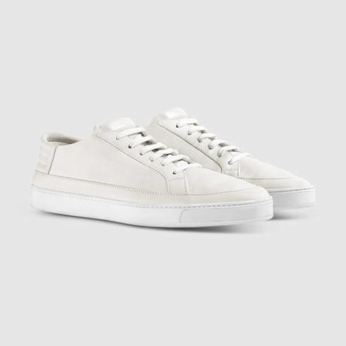 Gucci Leather Low-top Sneaker in White