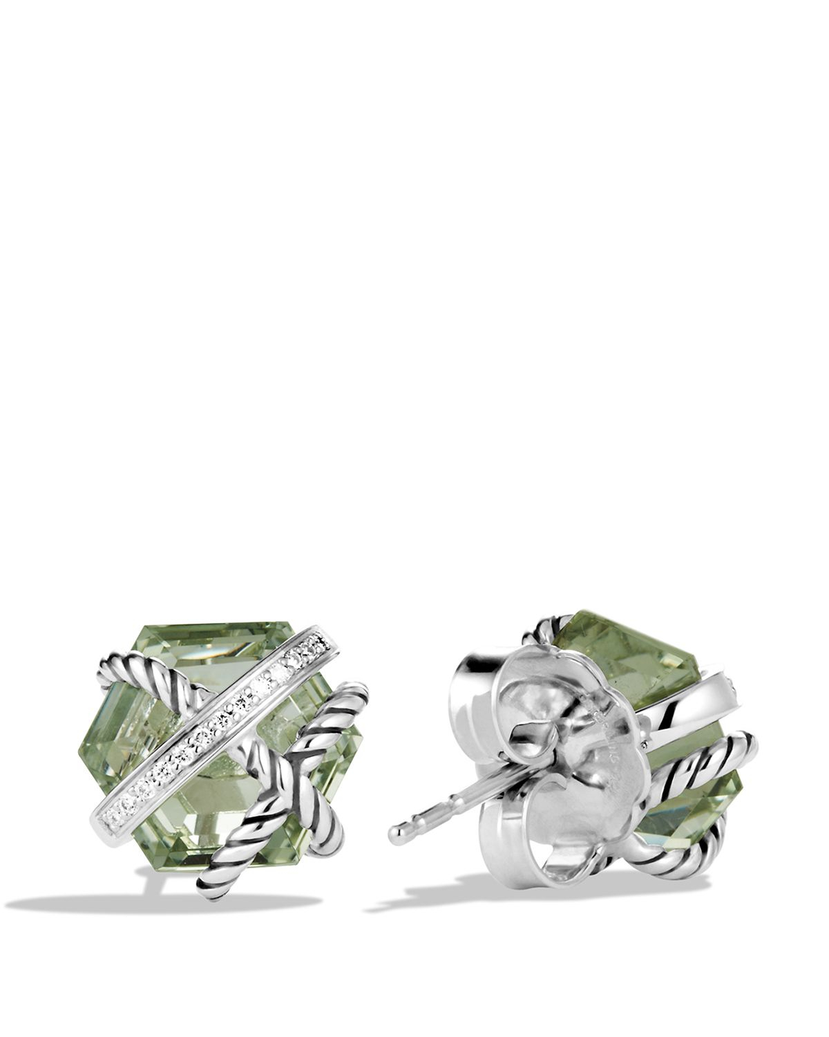 david yurman cable wrap earrings with prasiolite and