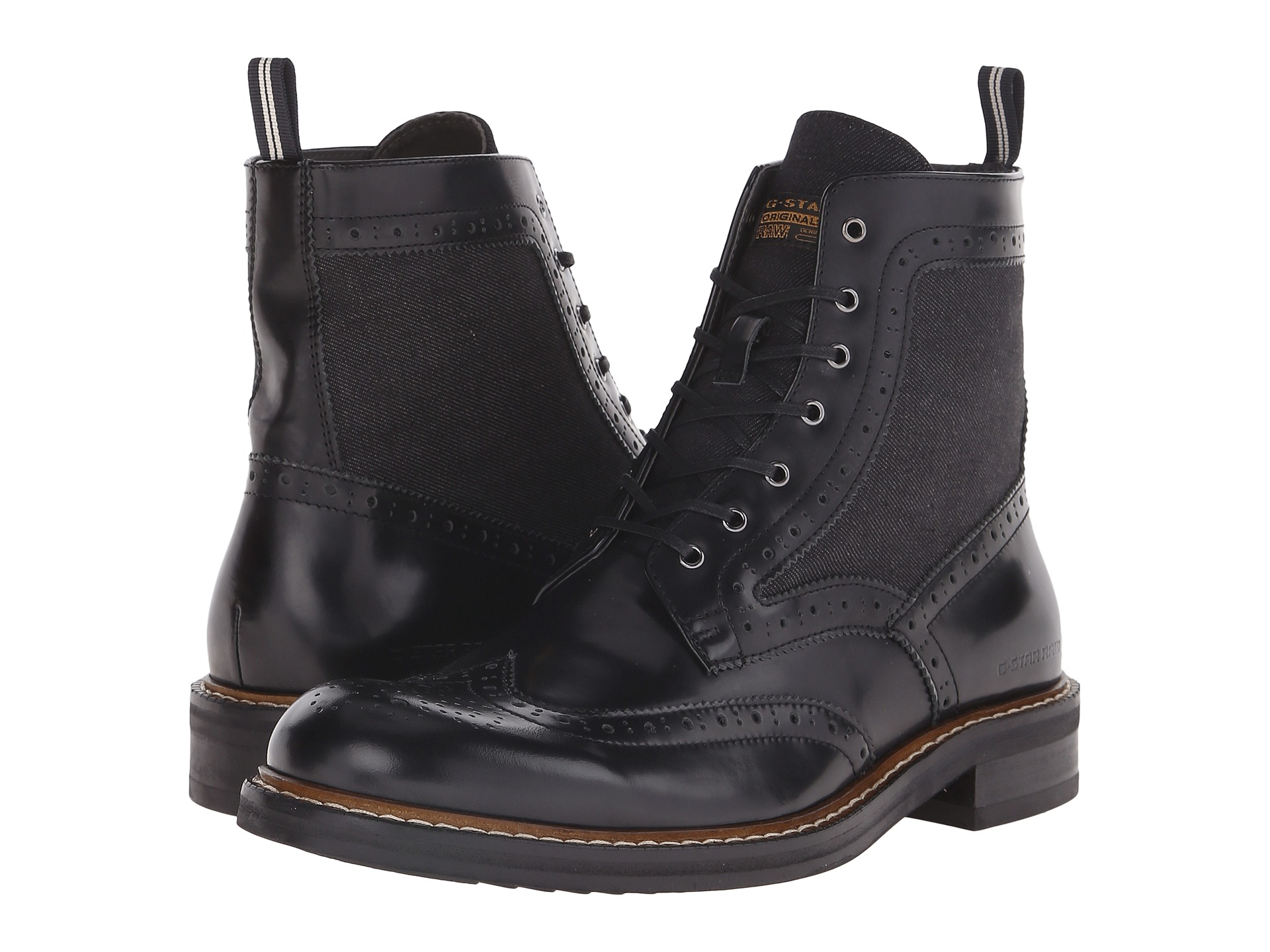 G-star raw Trent Boot Mix in Black for Men | Lyst