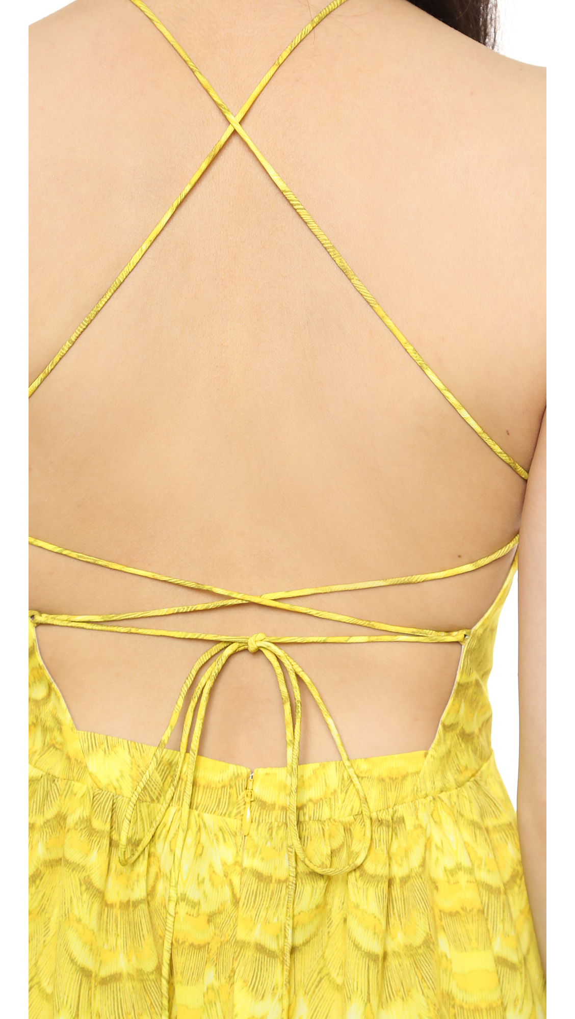 Tibi Strappy Maxi Dress - Citrine-nocturnal in Yellow