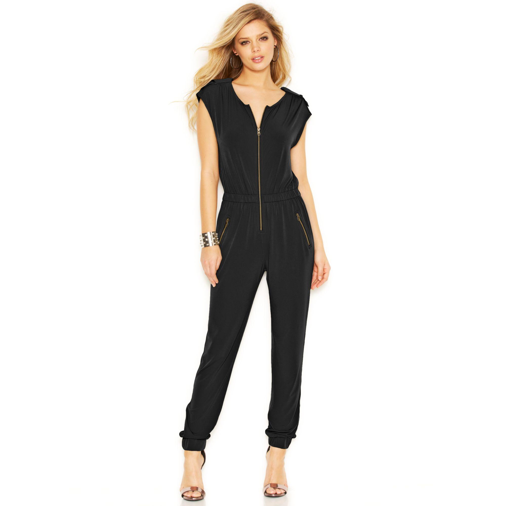 Guess Zipper Jumpsuit In Black Lyst