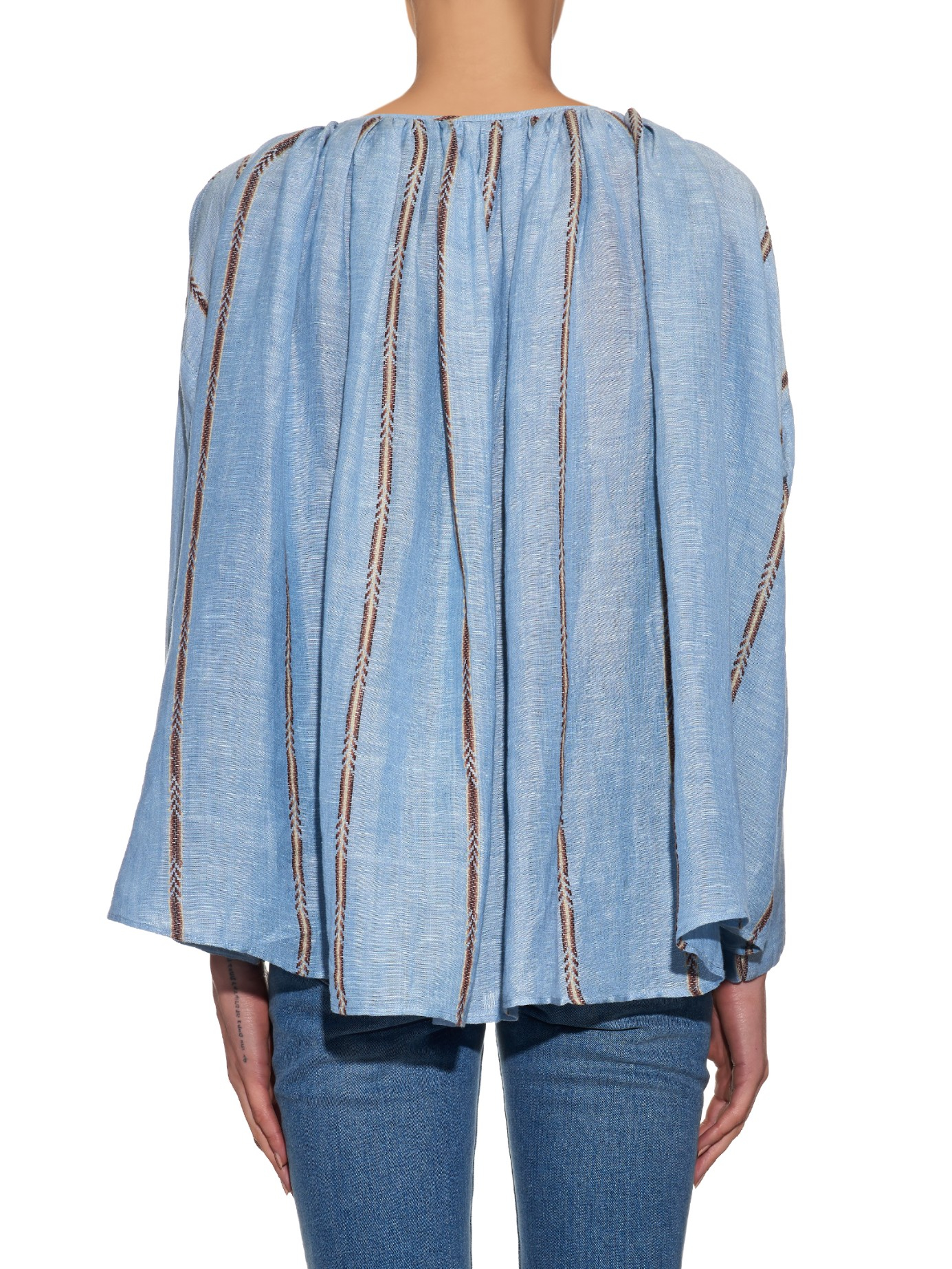 Galet blouse with ecru and blue stripes Mes Demoiselles... Outlet Deals 8NWO4s