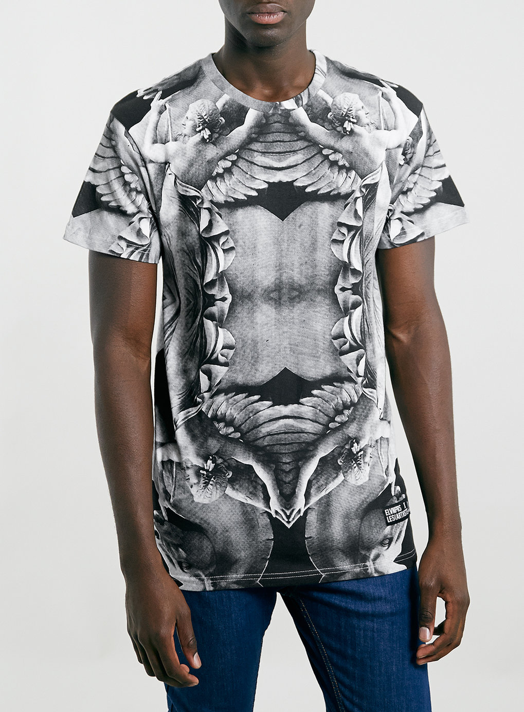 eleven paris x les artist back number t shirt in gray for men grey lyst. Black Bedroom Furniture Sets. Home Design Ideas