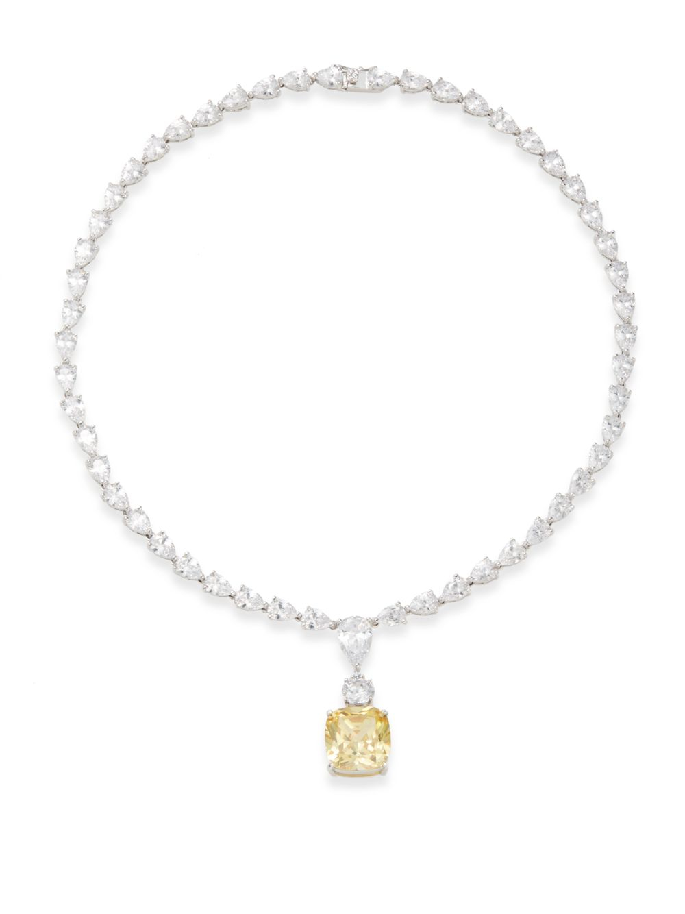 Kenneth Jay Lane Gold Chain White Stone Necklace Gold/white UrK1YDF