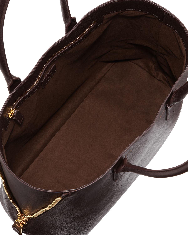 tom ford jennifer trap leather tote bag in brown lyst. Black Bedroom Furniture Sets. Home Design Ideas