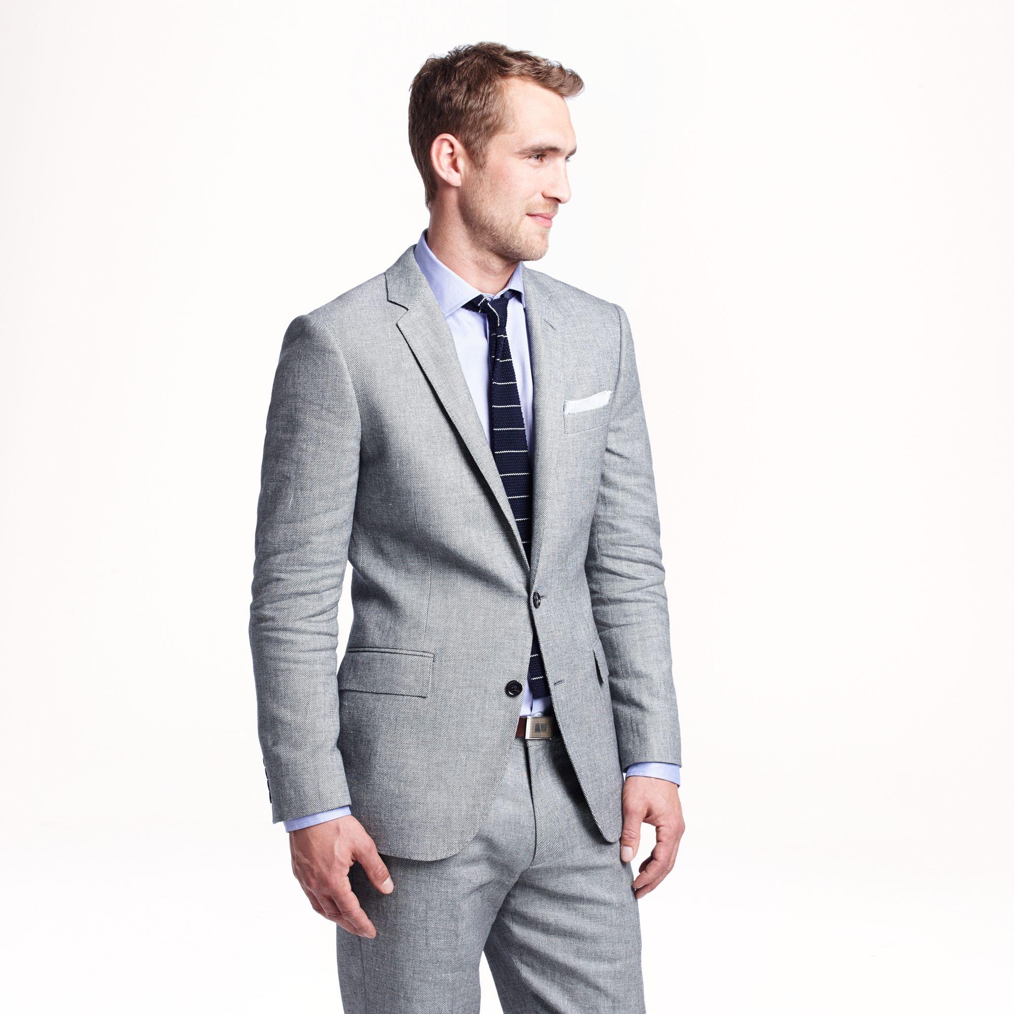 1327781aea00f8 J.Crew Ludlow Suit Jacket In Italian Linen-cotton in Gray for Men - Lyst