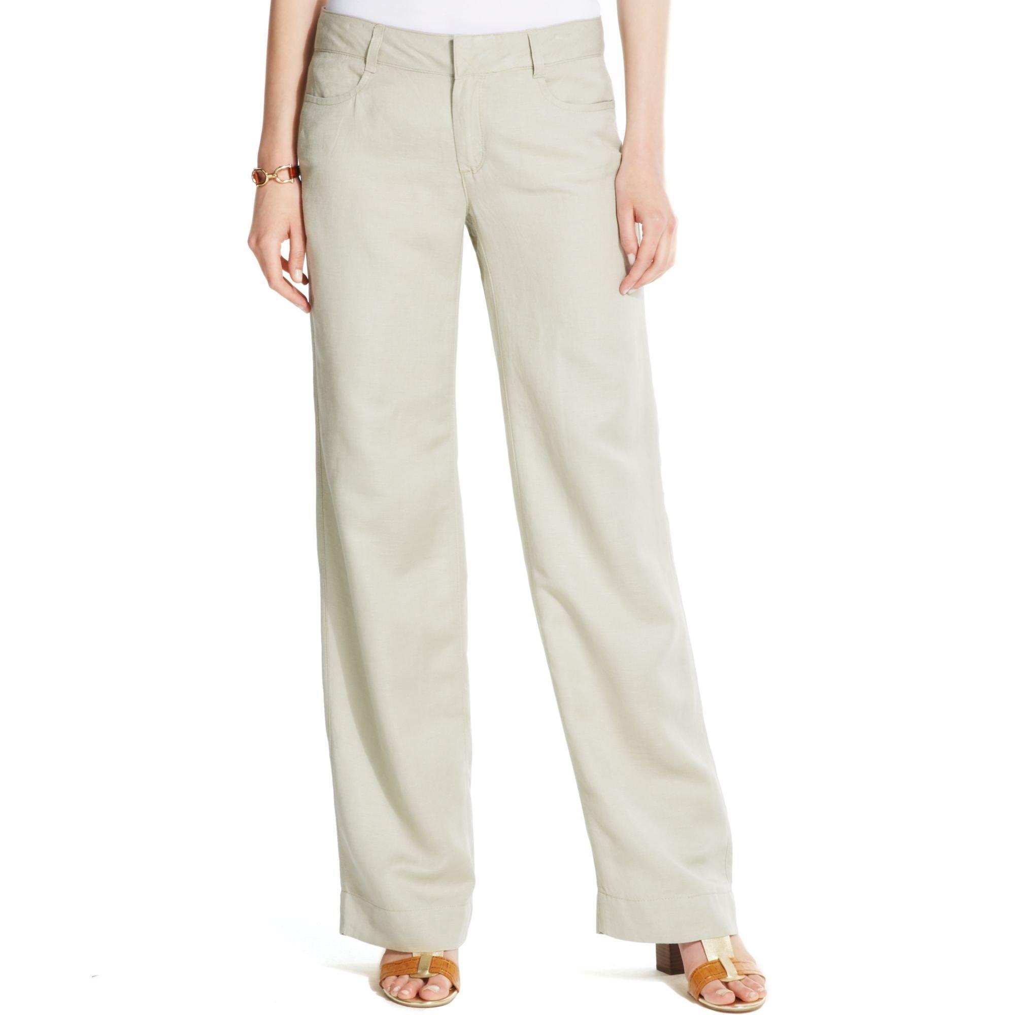 Elegant Women Women39s WideLeg Linen Pants  Khaki  Old Navy  Polyvore