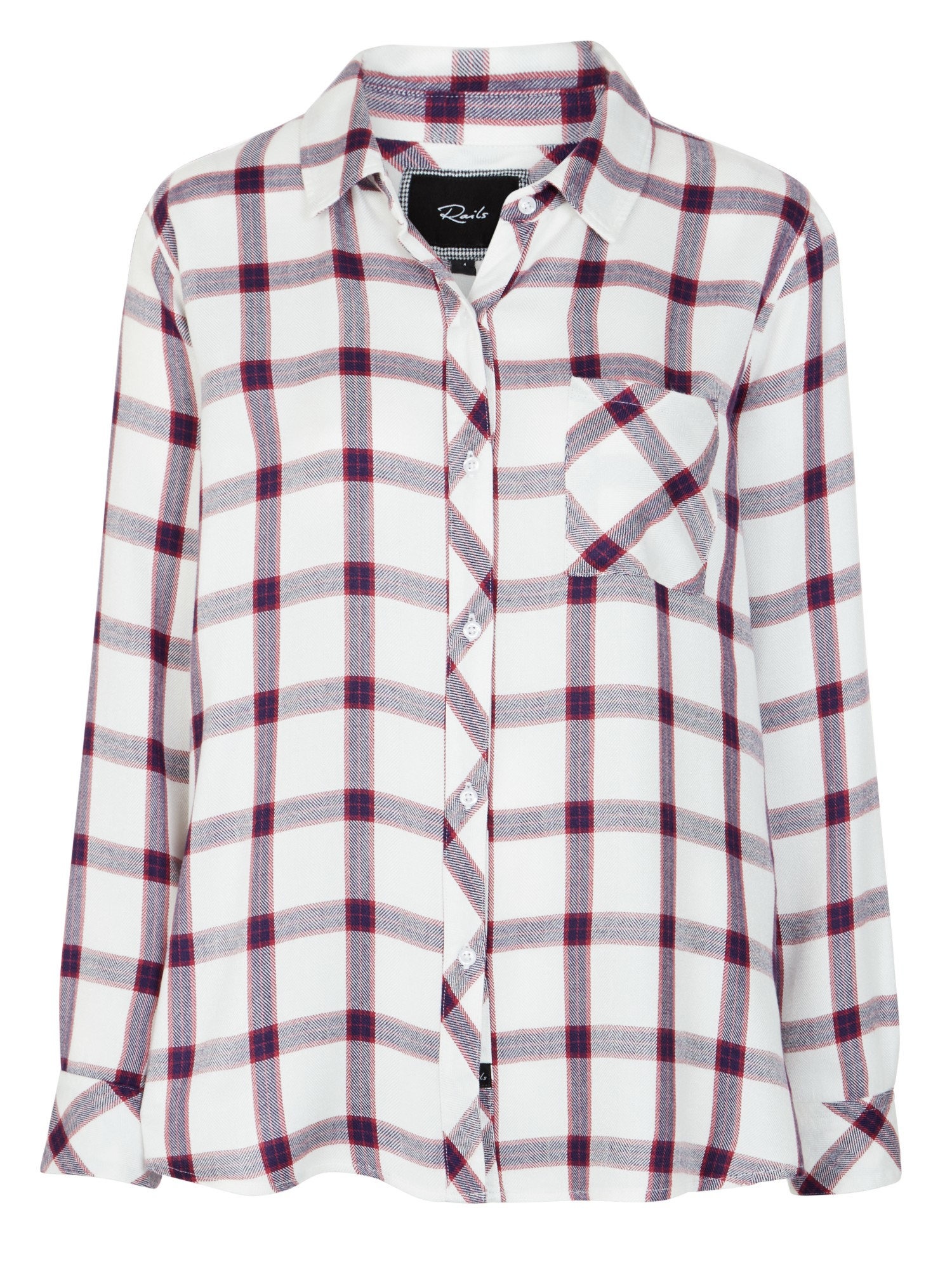 Rails Denim Hunter Plaid Shirt in Cream/Rose (White)