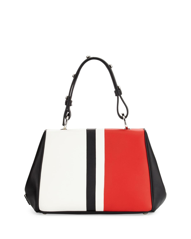 prada embellished suede frame bag
