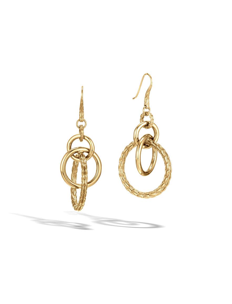 hardy classic chain orbital earrings in gold