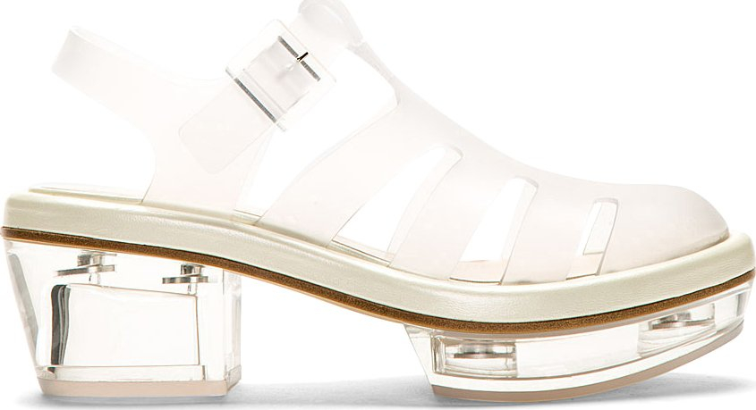 Simone Rocha Clear Perspex Platform Jelly Sandals In