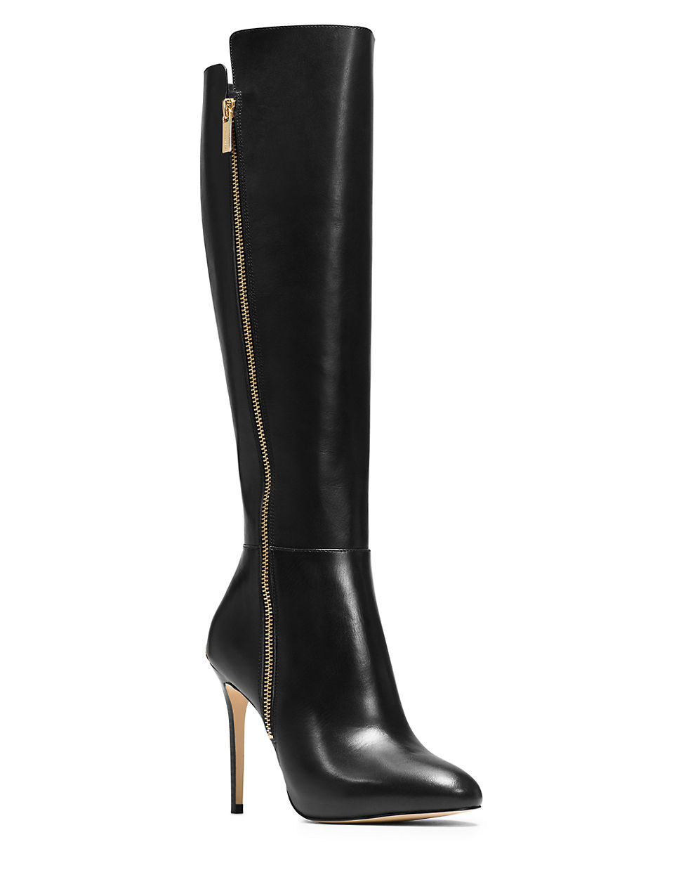 michael michael kors clara leather boots in black lyst