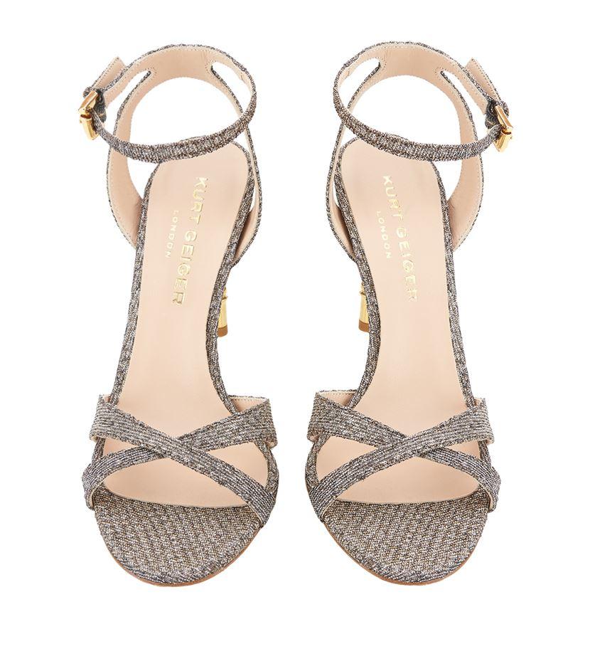 Heel Chelsea Sandals In High Lyst Kurt Geiger Gray Glitter qVUSzMp