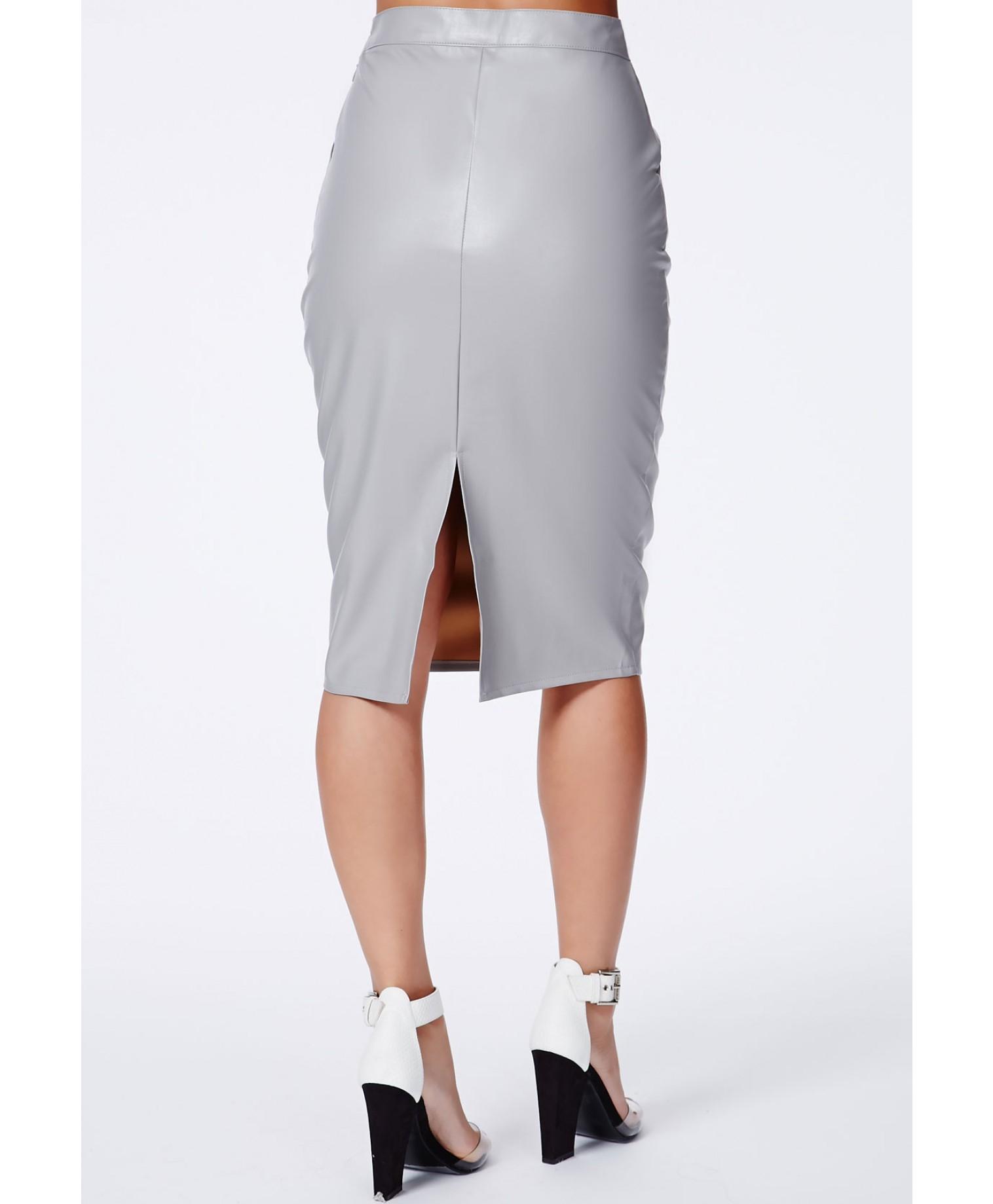 Lyst - Missguided Velvet Ruched Side Midi Skirt Teal in Black