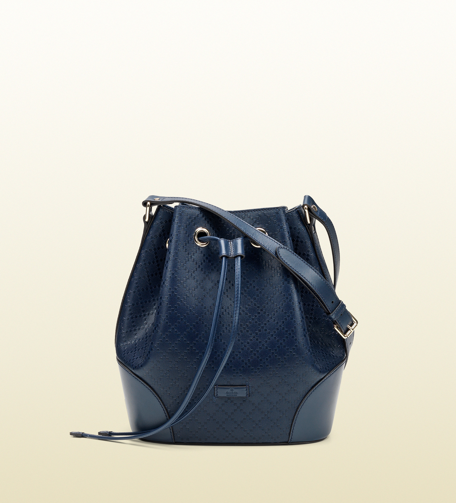 c6d85293c9d5fd Gucci Bright Diamante Leather Bucket Bag in Blue - Lyst