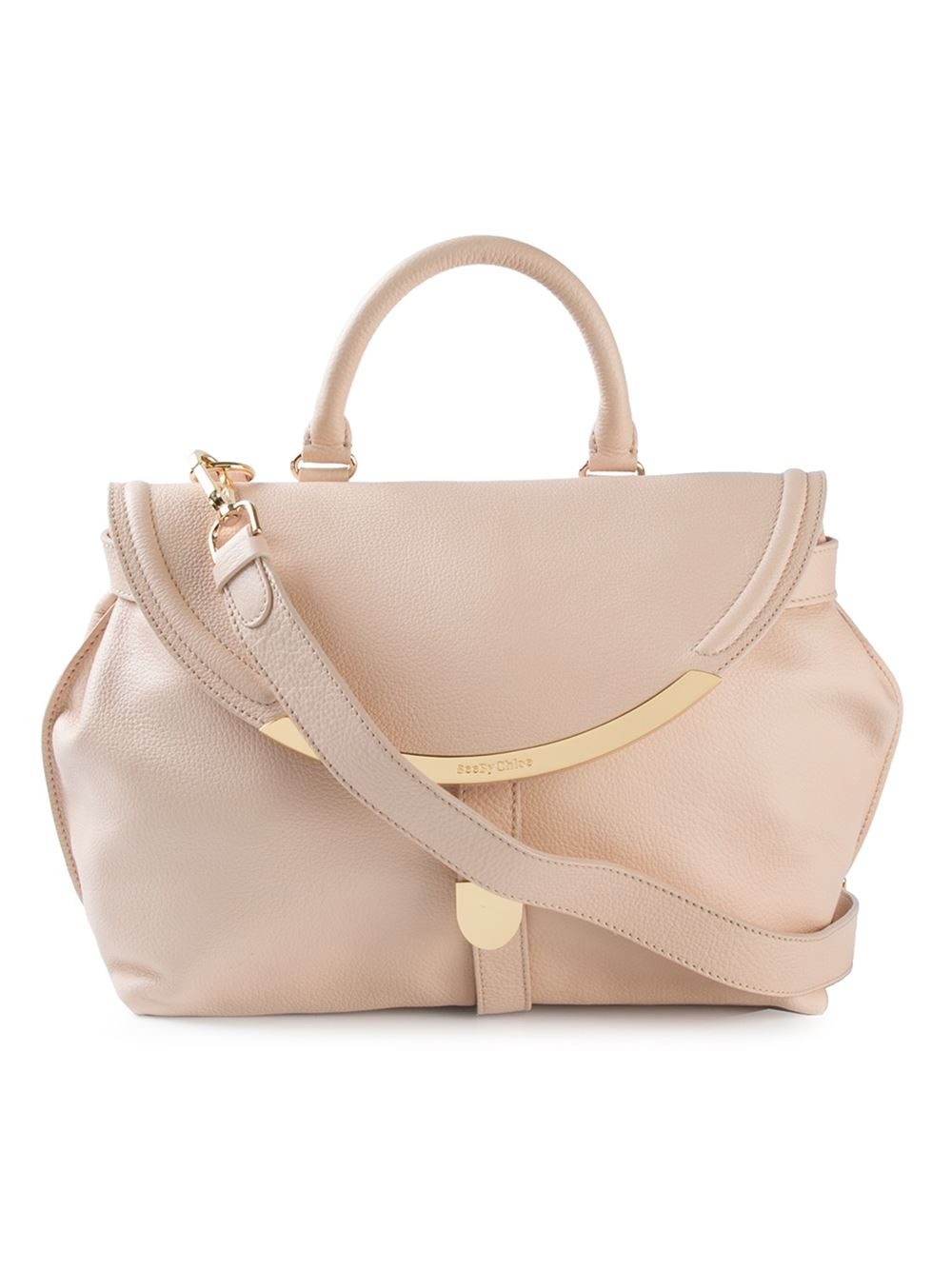 6695a4bce6 Lyst - See By Chloé  Lizzie  Crossbody Bag in Natural