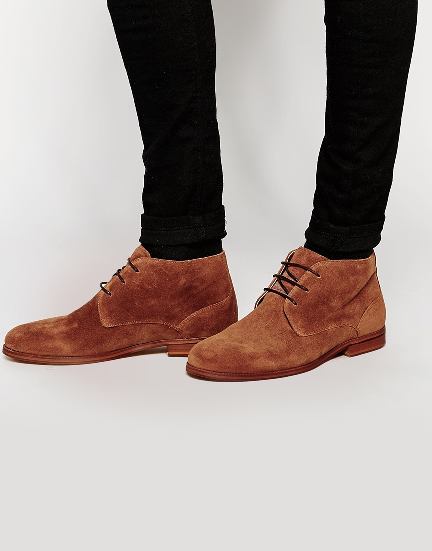 aldo suede lace up boots in brown for lyst