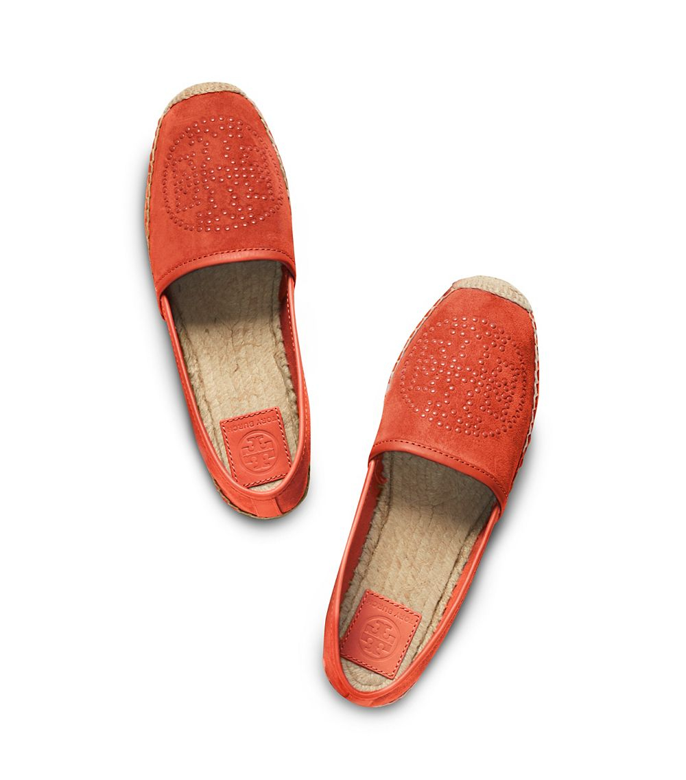 549055957160 Lyst - Tory Burch Kirby Flat Espadrille in Orange