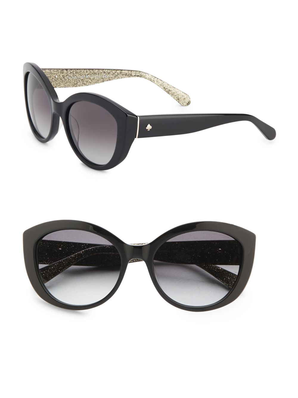 3fdb79b711 Lyst - Kate Spade Sherrie 55Mm Cat S Eye Sunglasses in Black