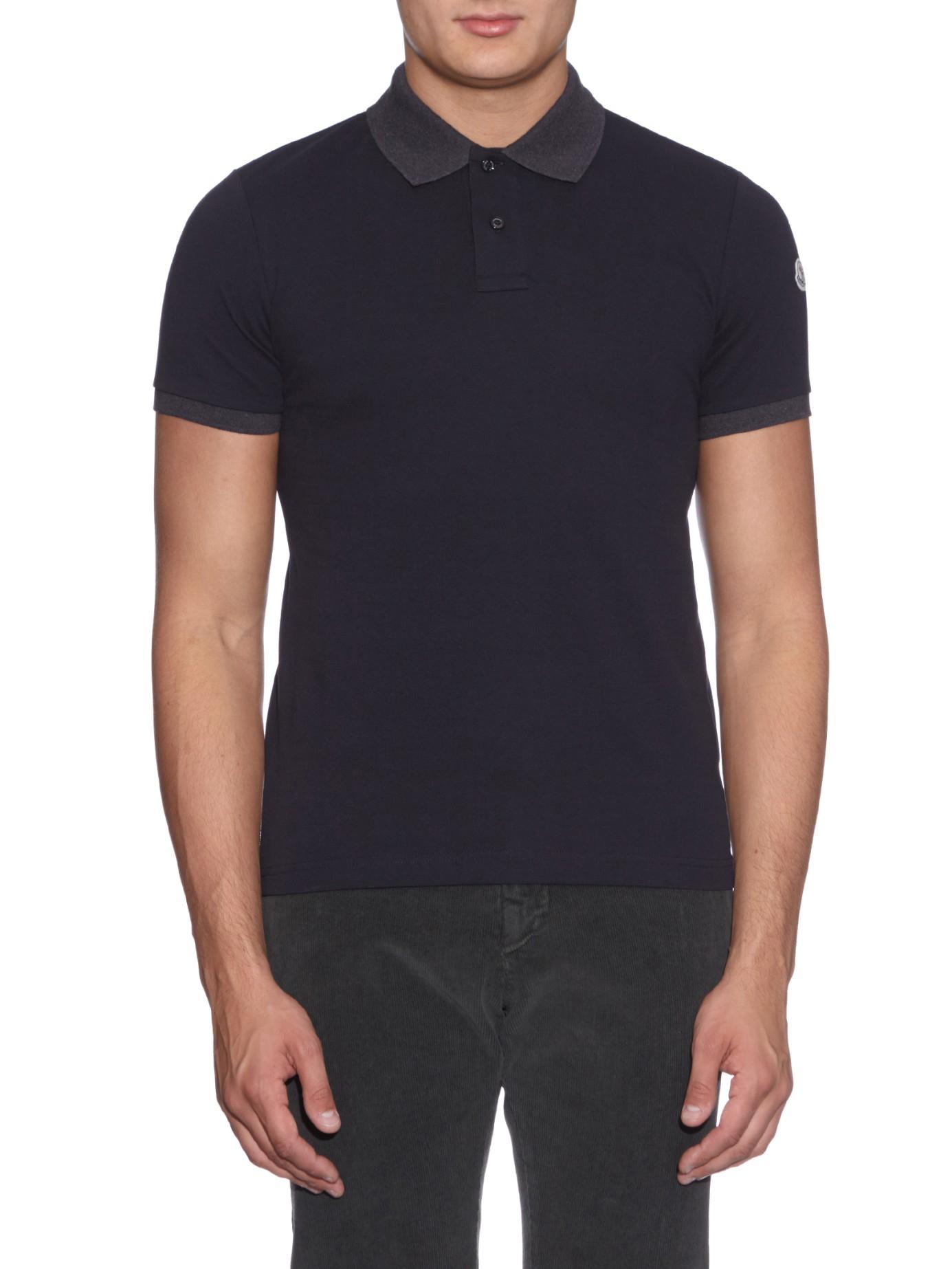 moncler polo shirt navy