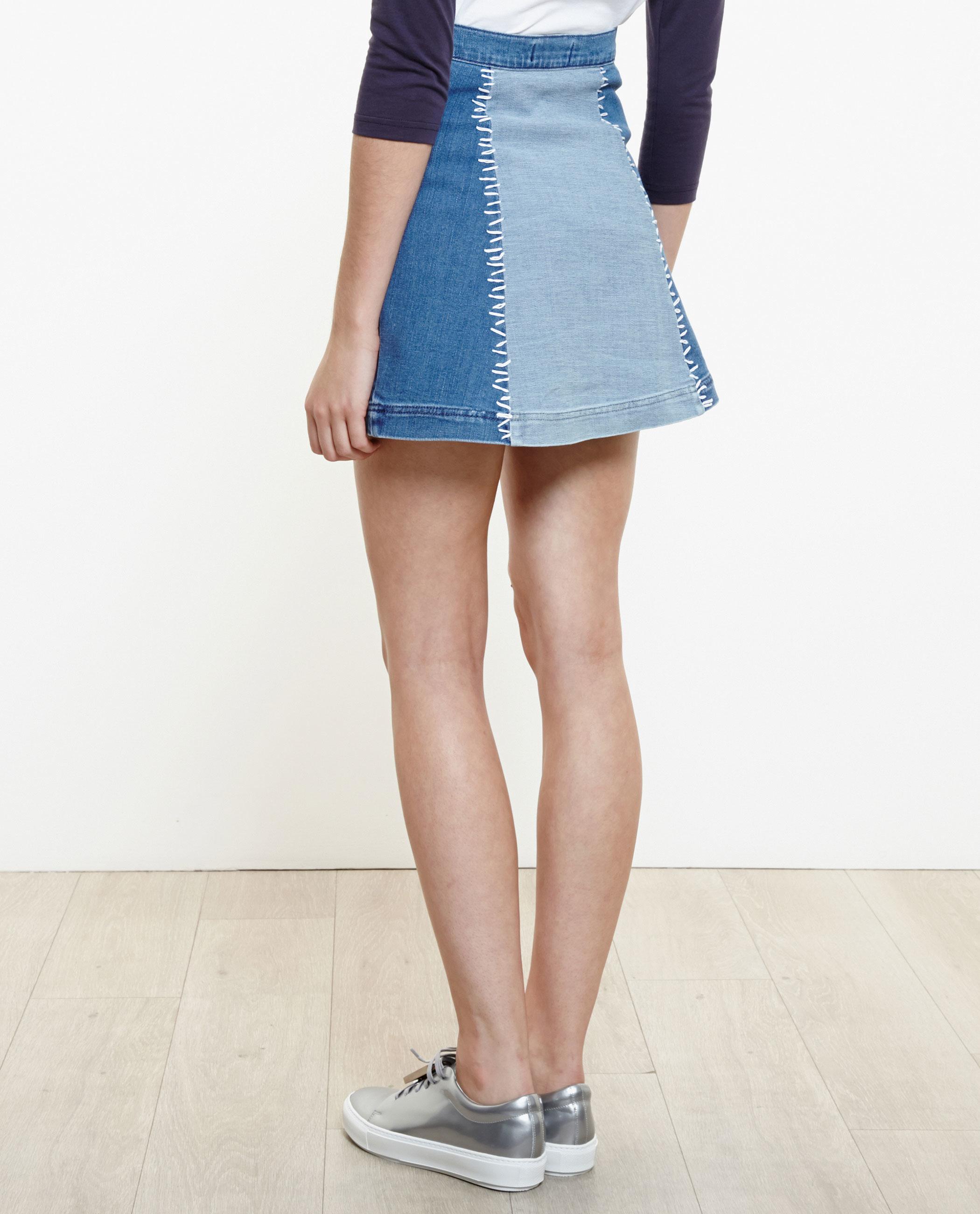 Blue Jean Mini Skirt 4