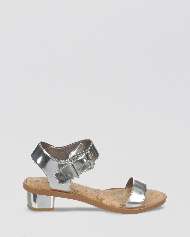 161655f1f42810 Lyst - Sam Edelman Open Toe Sandals Trina Block Heel in Gray