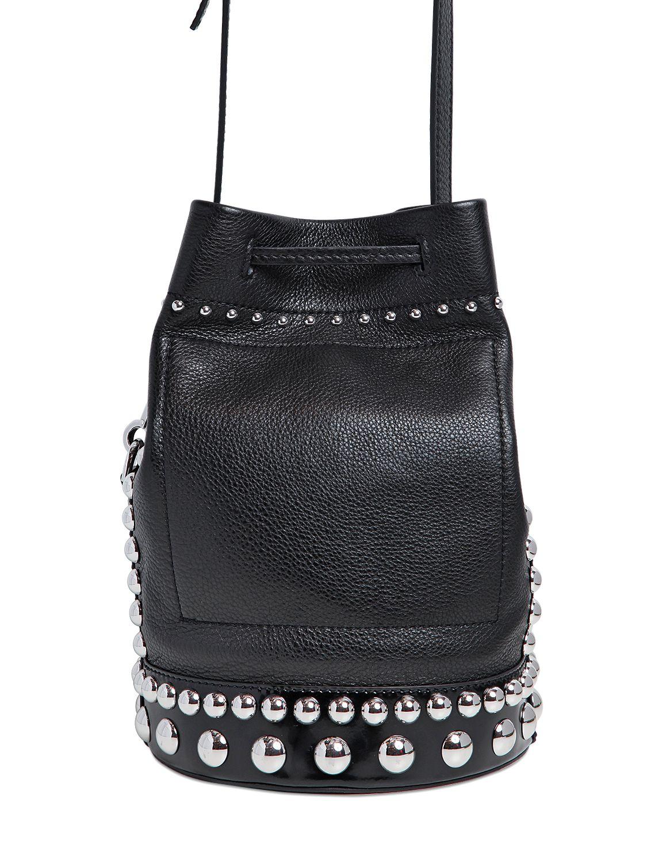 Kenzo Bike Studded Grained Leather Bucket Bag In Black Lyst
