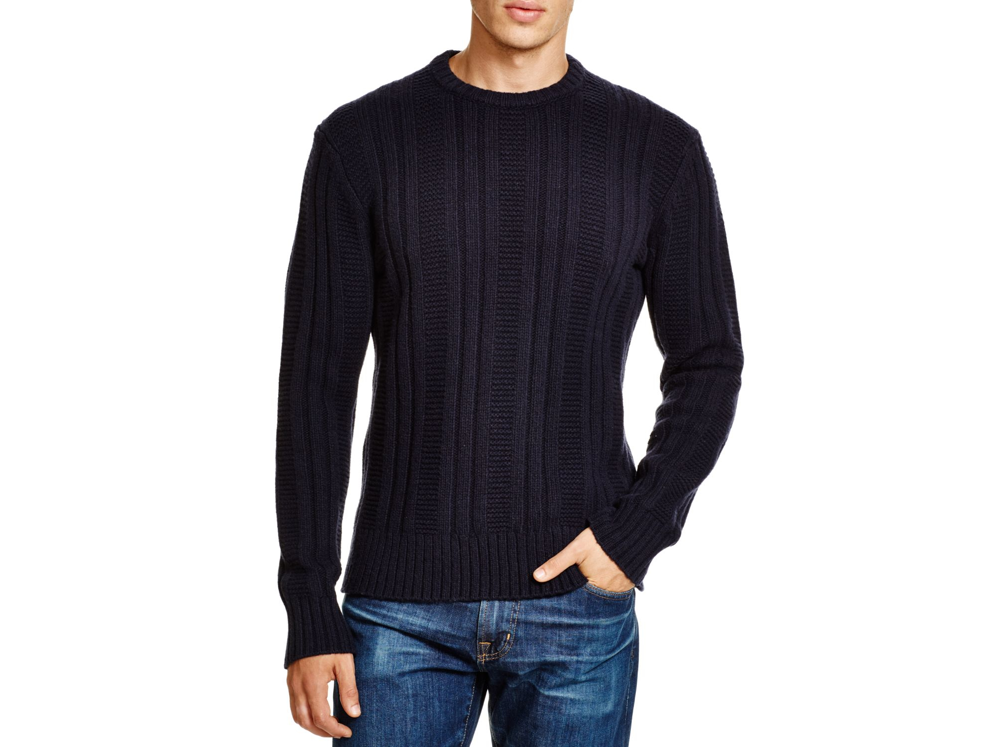 Jack spade Pollock Ribbed Sweater in Blue for Men | Lyst