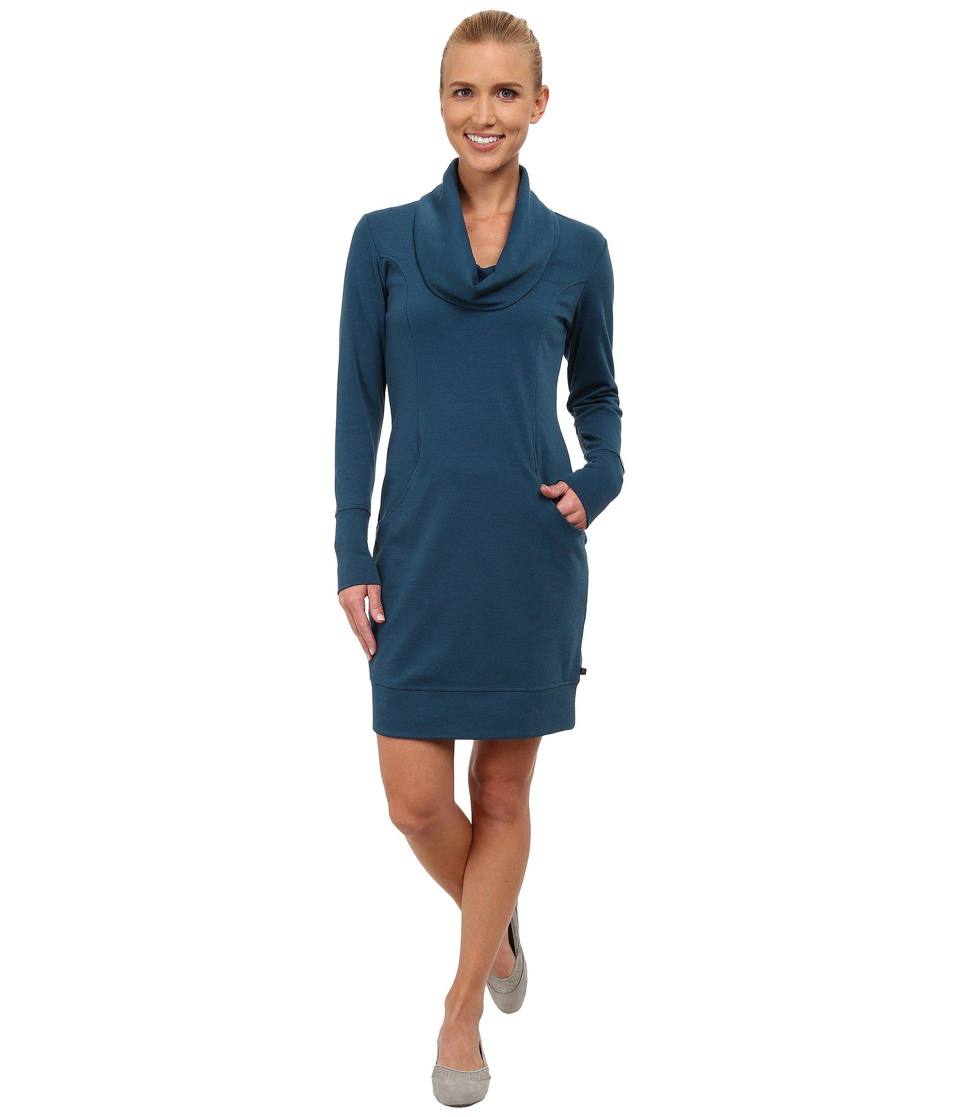 Merrell Indira Comfy Cowl Dress In Blue