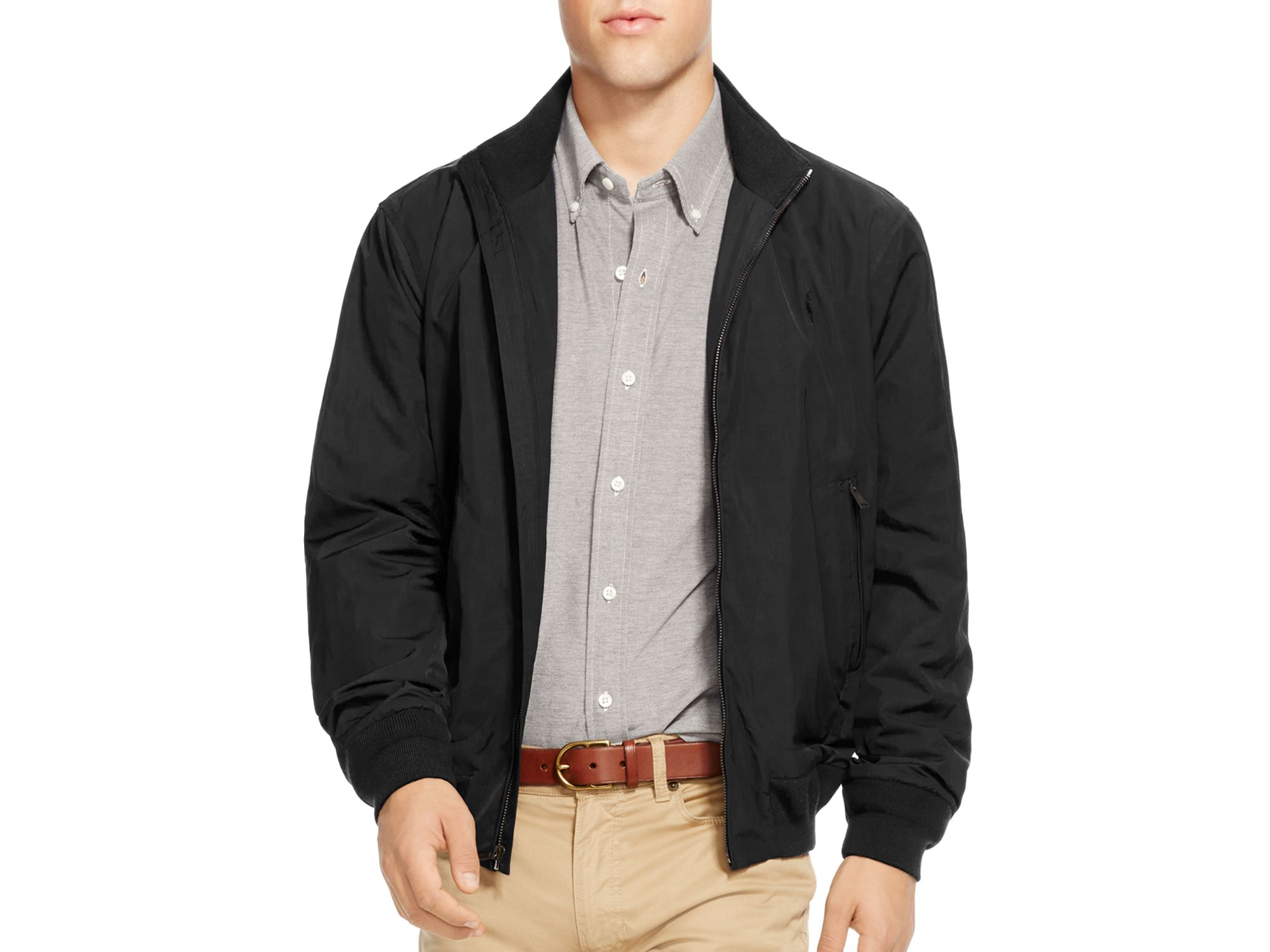 polo ralph lauren nylon barracuda jacket in black for men lyst. Black Bedroom Furniture Sets. Home Design Ideas