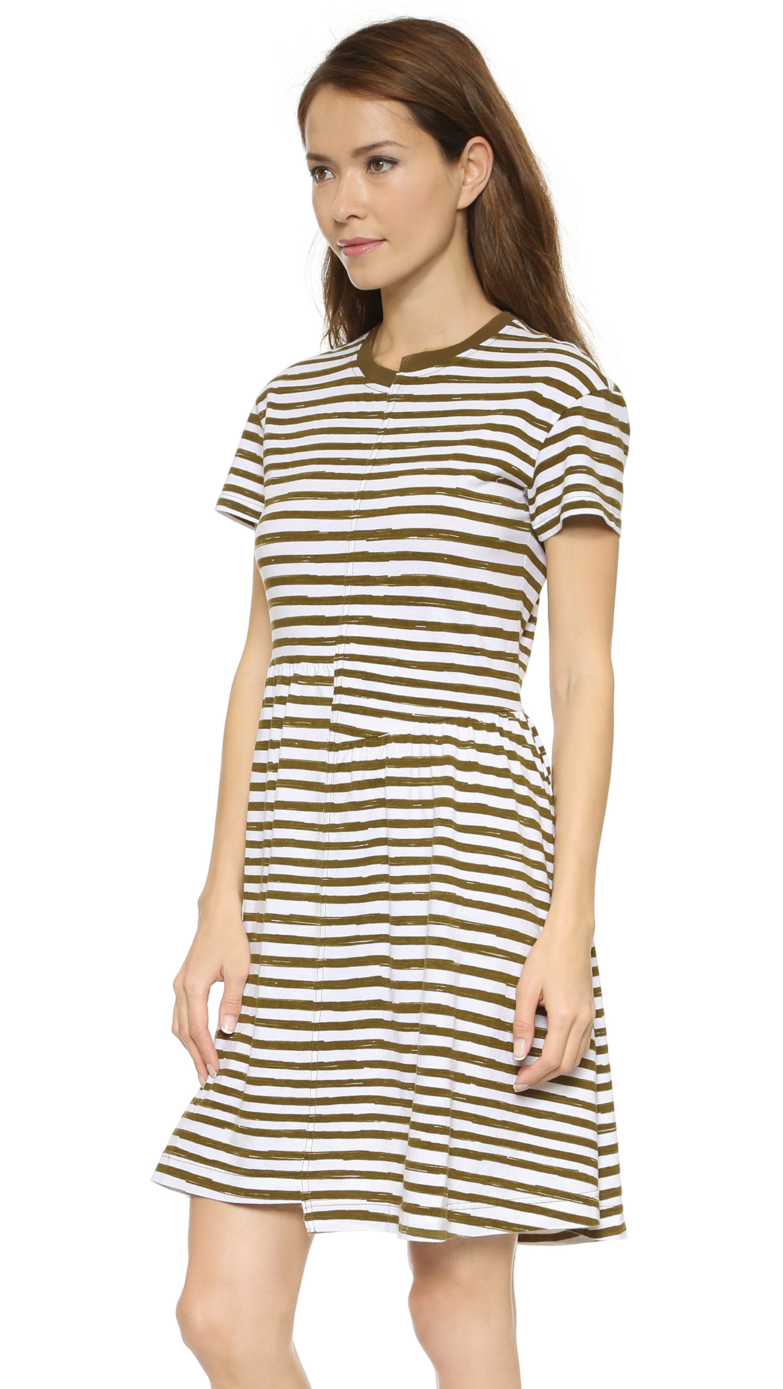 Lyst Marc By Marc Jacobs Sketch Stripe T Shirt Dress