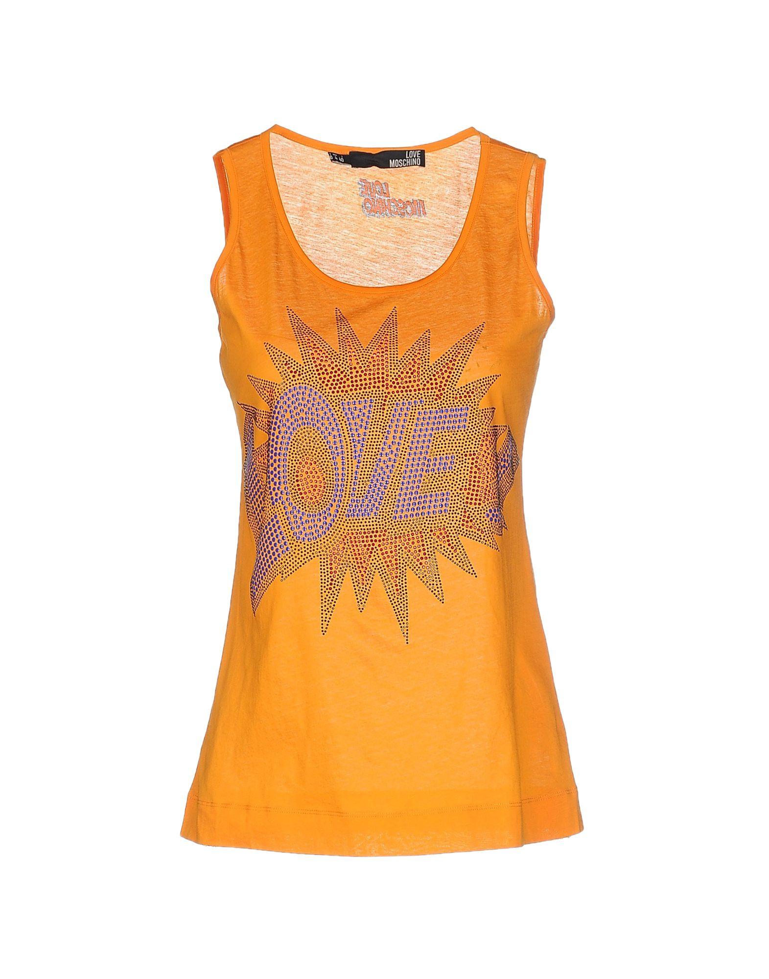 lyst love moschino vest in orange. Black Bedroom Furniture Sets. Home Design Ideas