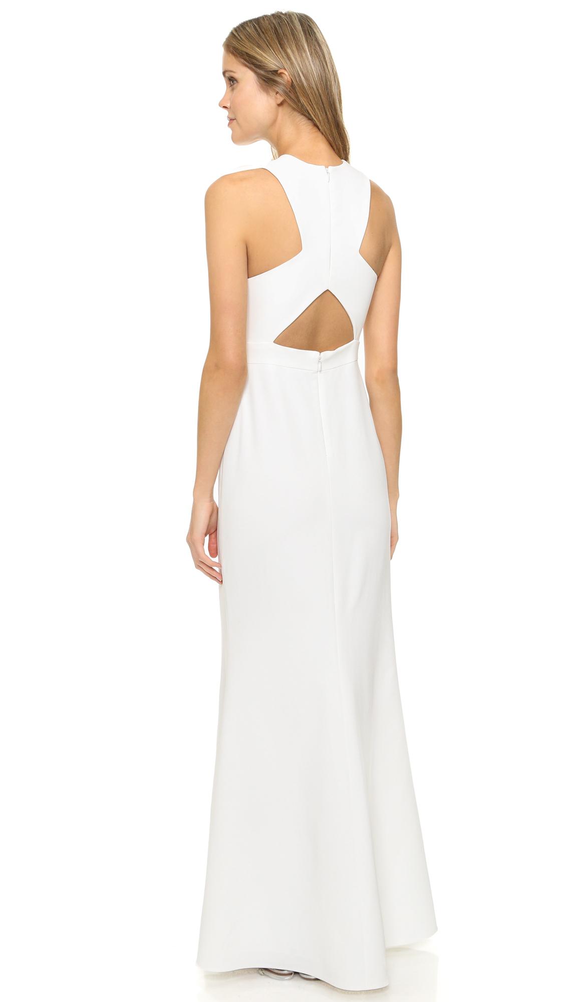 Jill Jill Stuart Sleeveless Open Back Gown In White Lyst