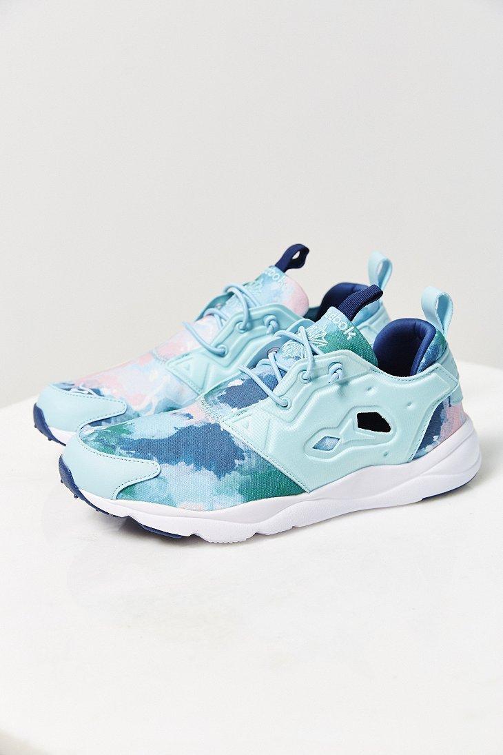 39d0a0387763 Lyst - Reebok Furylite Watercolor Running Sneaker in Blue