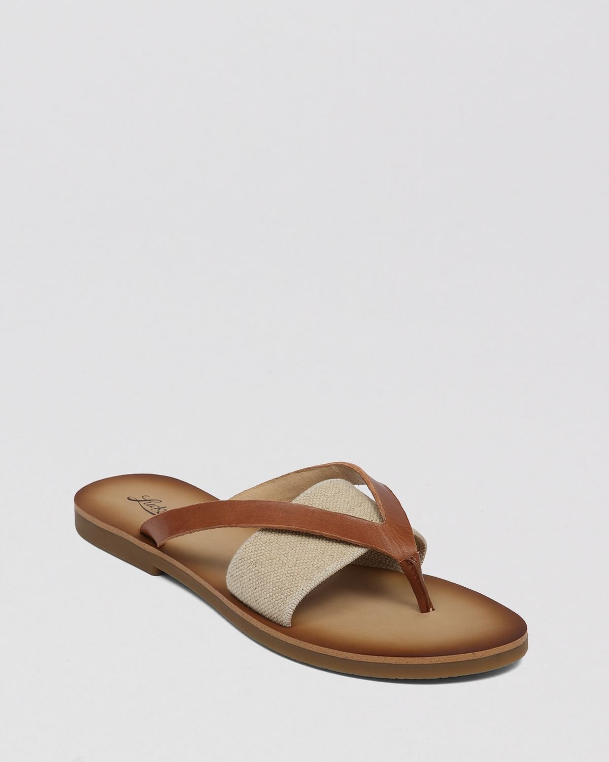 c2c7781d7815 Lyst - Lucky Brand Flat Thong Sandals Baxx in Brown