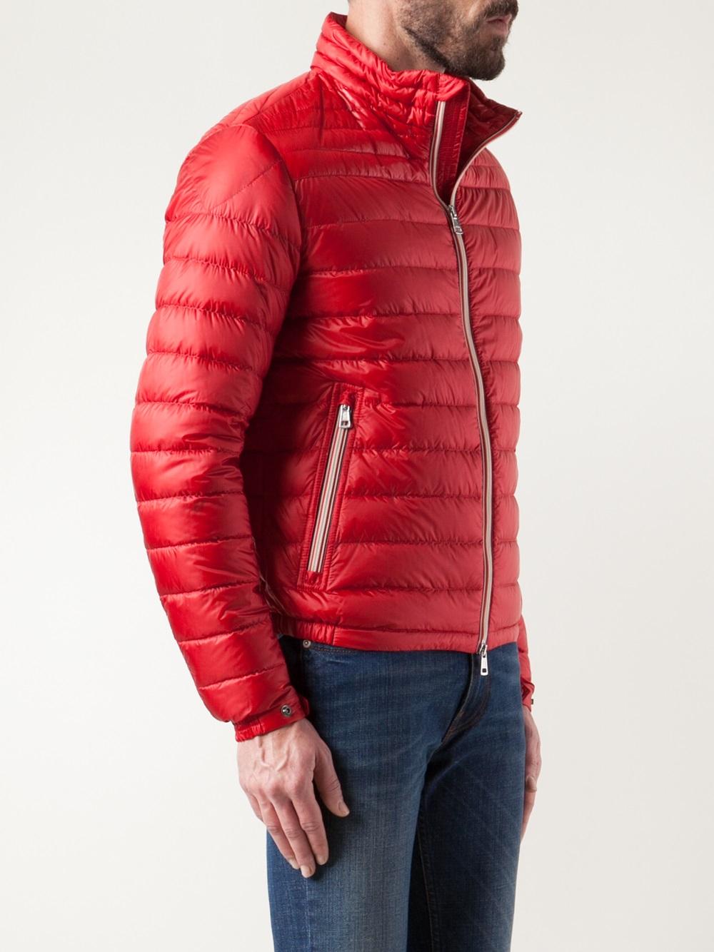 Moncler Padded Jacket in Red for Men