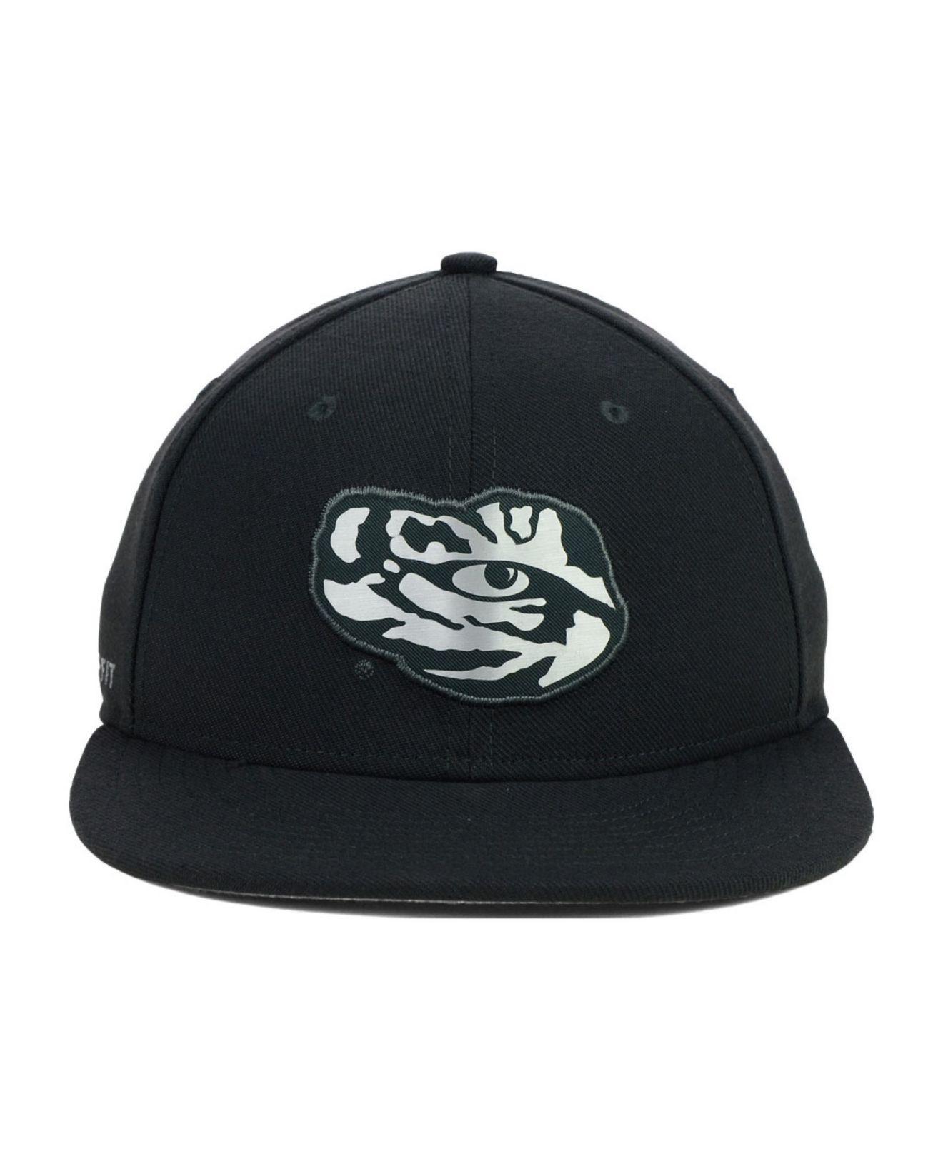 size 40 84b95 ec955 Lyst - Nike Lsu Tigers True Platinum Swooshflex Cap in Black for Men