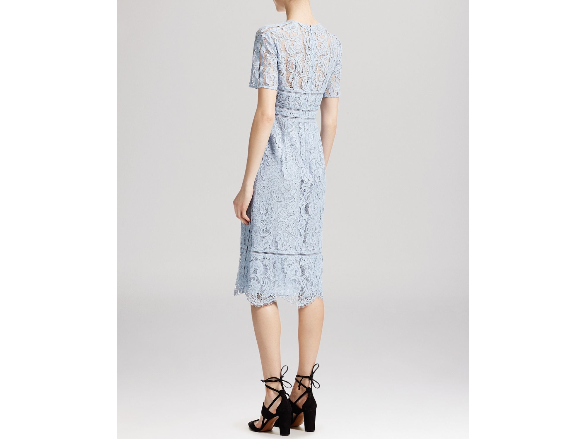 69e0c48d109cb8 Whistles Lilly Lace Shift Dress in Blue - Lyst