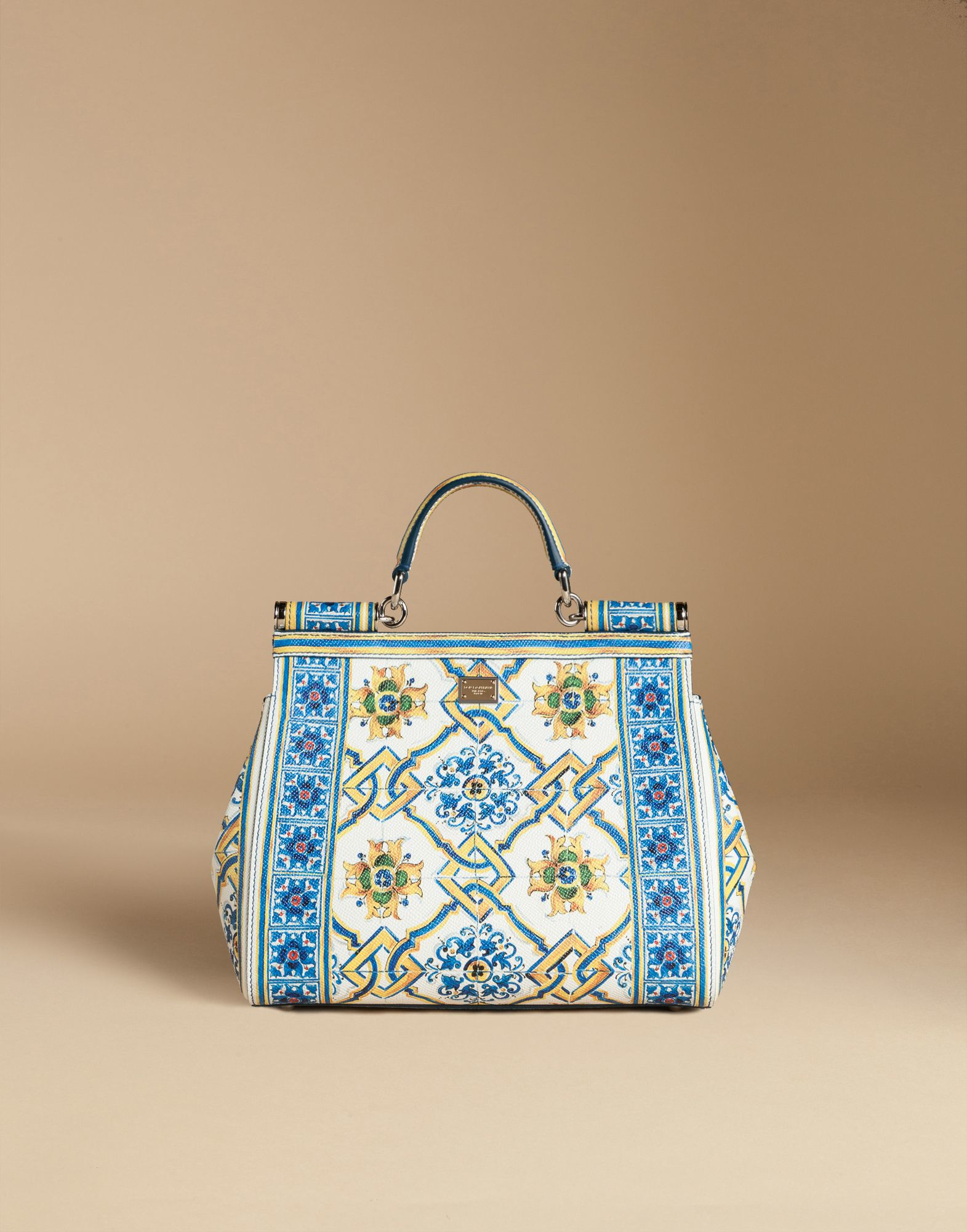 a5d638796f Lyst - Dolce   Gabbana Medium Sicily Bag In Printed Dauphine Leather ...