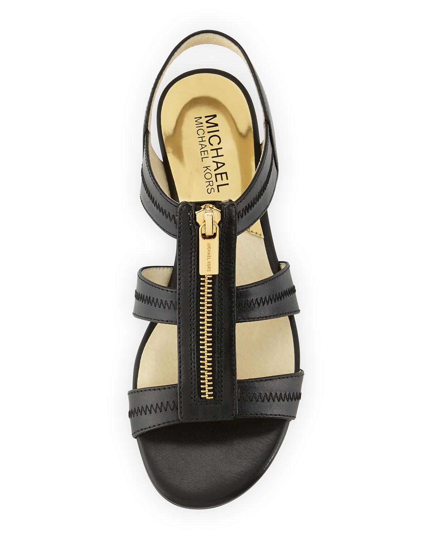 Lyst - Michael Michael Kors Berkley T-strap Sandals in Black