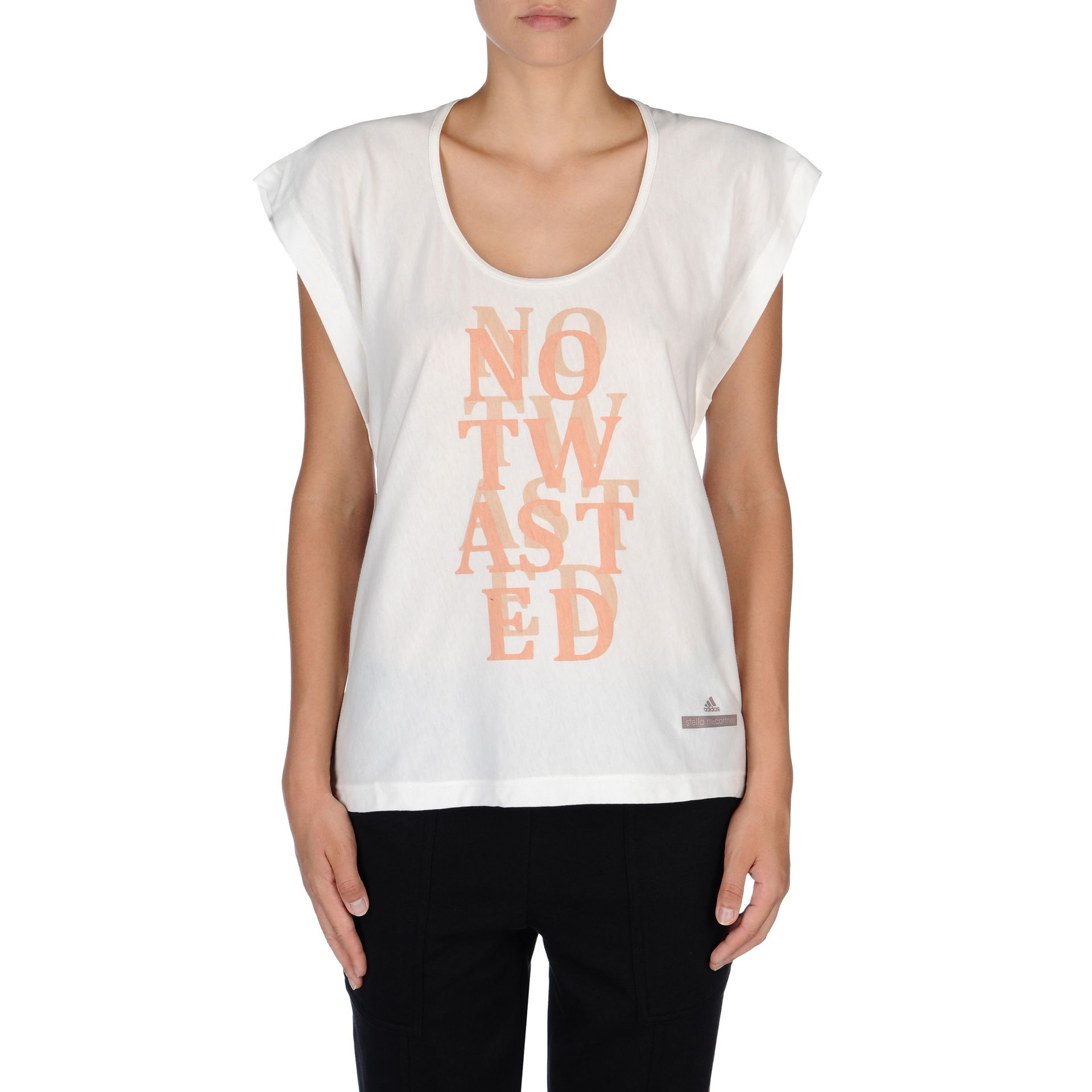 Lyst adidas by stella mccartney low waste graphic t for Stella mccartney t shirt
