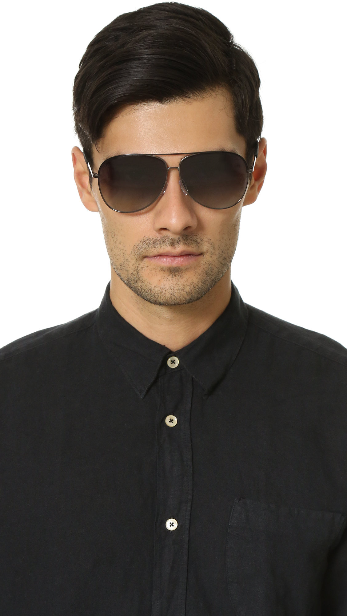 Marc By Marc Jacobs Polarized Aviator Sunglasses in Black for Men