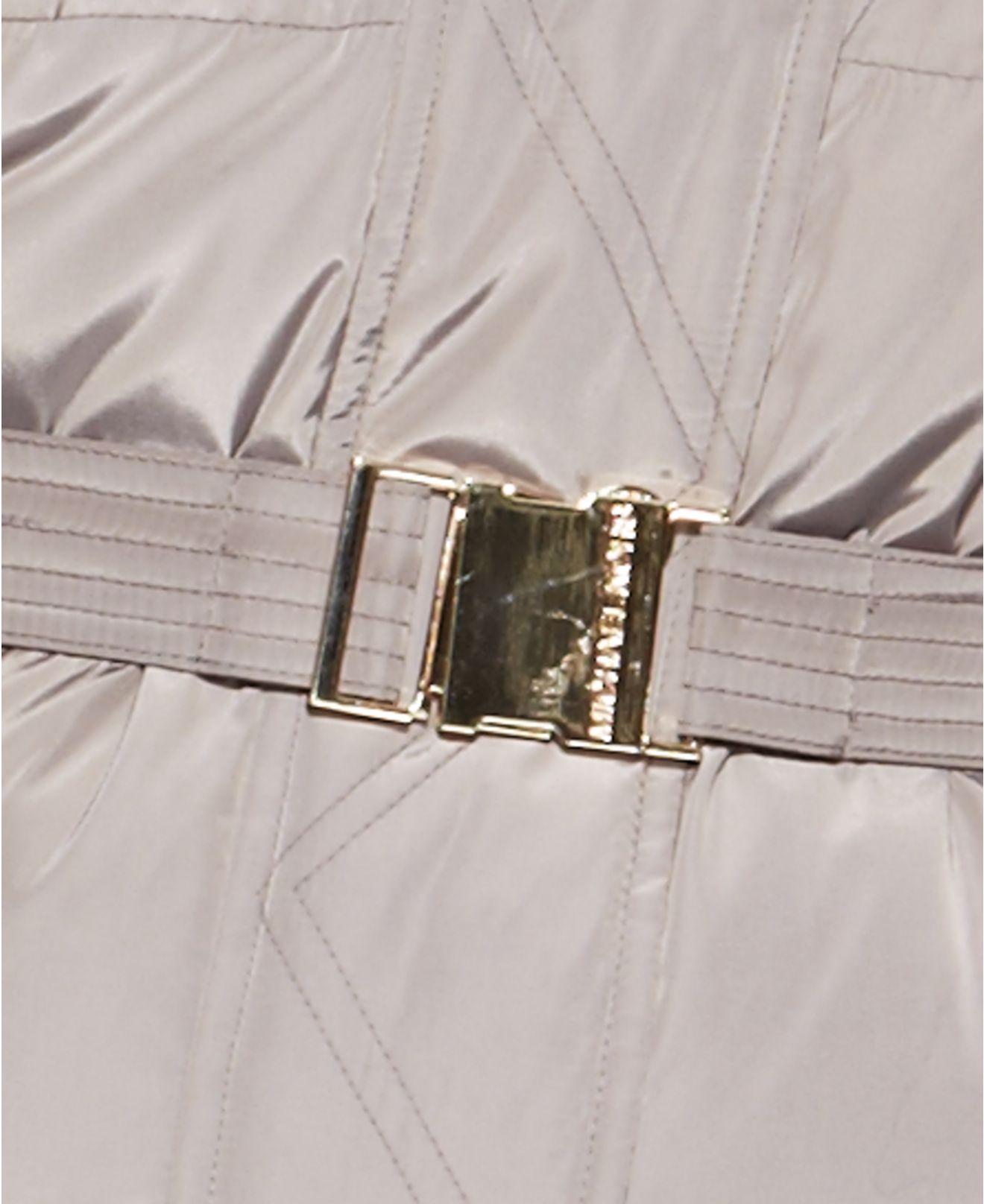 Michael Kors Michael Plus Size Hooded Faux-Fur-Trim Belted ...
